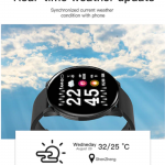 W8 Smart Watch Heart Rate Monitor Weather Forecast Fitness Watch Waterproof Bluetooth Smart Band 8